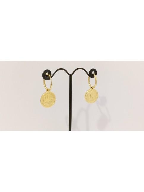 Boucles d'oreilles Oma plaqué or