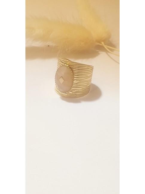 Bague léa plaqué or et émail